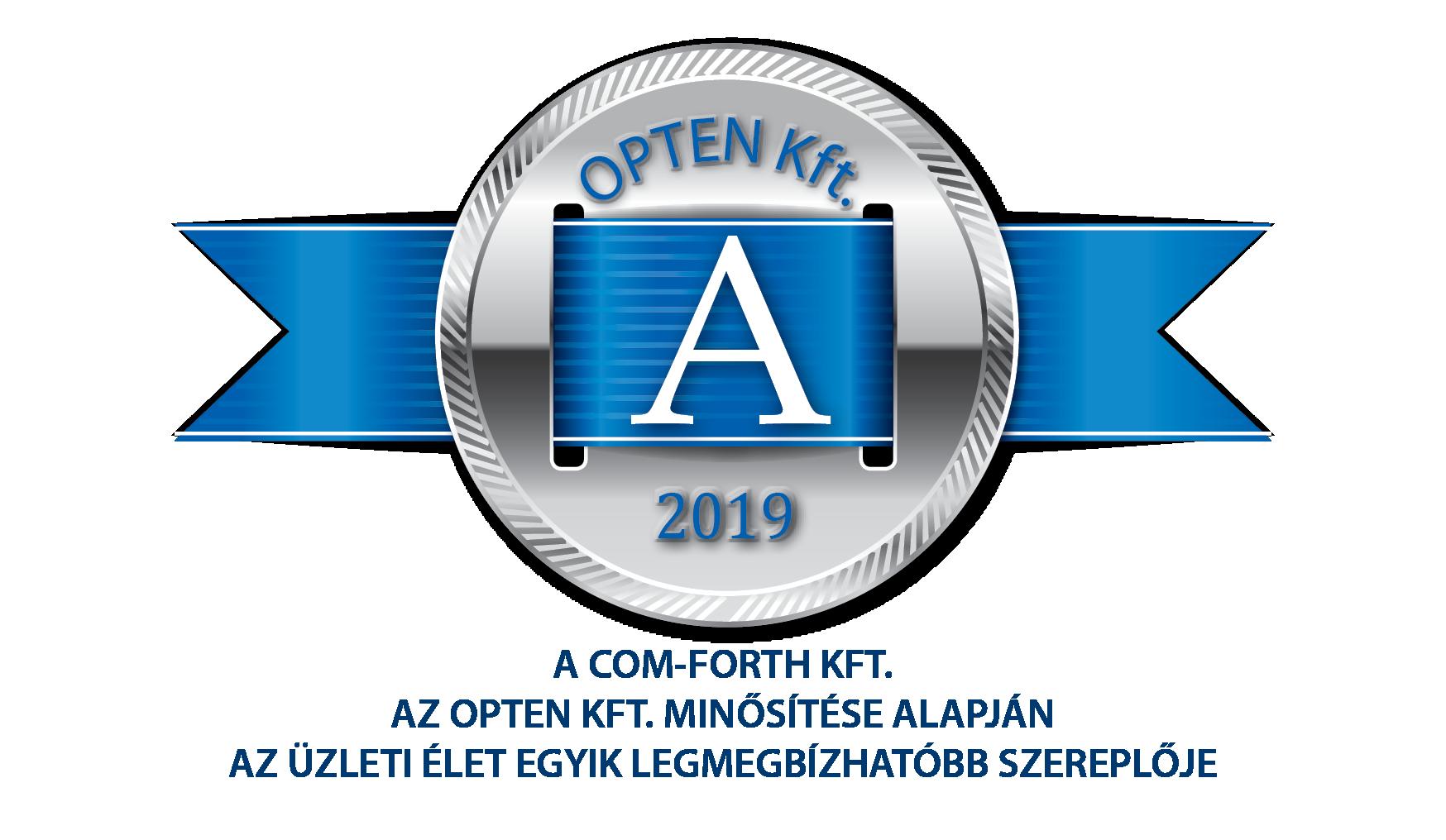 Opten elismerés logo 2019